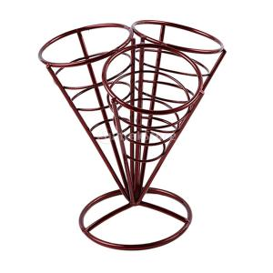 全2色選べる French Fryスタンド フライドポテトホルダー コーンバスケットホルダー 大容量 多目的   - 赤|stk-shop