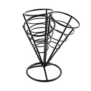 全2色選べる French Fryスタンド フライドポテトホルダー コーンバスケットホルダー 再使用可能  - ブラック|stk-shop