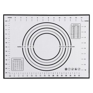 シリコン ベーキングマット ノンスティックデザイン 多目的 非毒性 全2色2サイズ - 黒, 2
