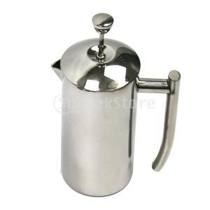 説明:ステンレス製フレンチプレスコーヒーポットは、割れや破損の危険性を排除します。 断熱された二重壁...