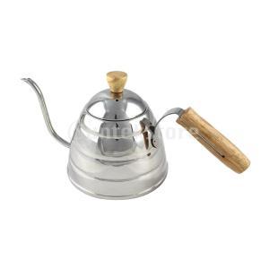 説明:ステンレススチール、ガチョウの曲線のコーヒーとティーケトルで作られ、注ぎ込み時の正確な制御が可...