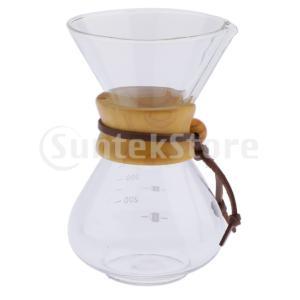 400mlコーヒーサーバー耐熱ガラスコーヒーポットに注ぐ