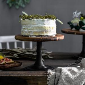 ウッドケーキスタンドペデスタルデザートラウンドホルダー結婚披露宴誕生日21cm stk-shop