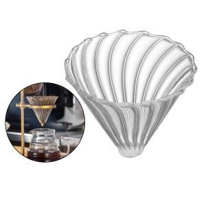 ガラス上に注ぐコーヒードリッパー遅いドリップコーヒーフィルターコーン再利用可能なカップコーヒーメーカーアクセサリー|stk-shop