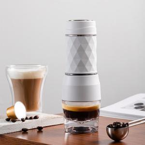 120MLエスプレッソマシンマニュアルコーヒーメーカートラベルピクニックハイキングホワイト|stk-shop