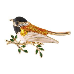 送料無料Fenteerブローチ 鳥型 合金 ピン 衣装アクセサリー ジュエリー 贈り物 全2色|stk-shop