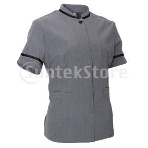説明:  ★ユニセックスダブル半袖シェフホテル制服。  ★2つのポケット、他の小さい付属品を調理する...
