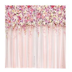 Perfeclan ポリエステル製 抗UV、耐水性、抗カビ 窓カーテン 花柄 ドアカーテン 部屋仕切り 取り付けアクセサリー付き 全10デザイン - #3