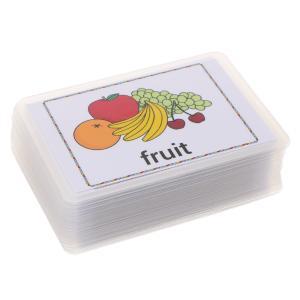 約80枚 フラッシュカード ワードカード カードゲーム 食べ物 絵本 英語 語彙 赤ちゃん 初期教育|stk-shop