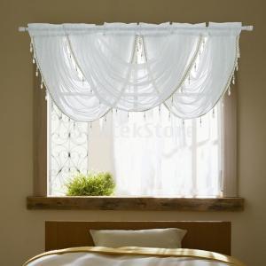 F Fityle カーテン パネル シアーカーテン ウィンドウ ウォール ドア タッセル 豪華 室内装飾 結婚式|stk-shop
