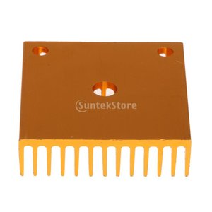 Fenteer 3Dプリンタ ヒートシンク MK7/MK8 押出機 冷却フィン ゴールド 高品質|stk-shop