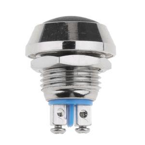 防水 瞬時 プッシュボタン 押しボタンスイッチ IP67 合金 12mm 7色選択   - 黒|stk-shop