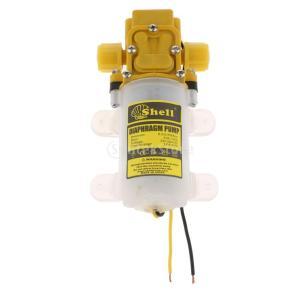 ミニ 水圧ポンプ ダイヤフラム DC12V  58 PSI セルフプライミング 電磁 スプレーポンプ 2L/min