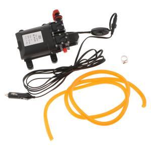 洗車用 水ポンプ DC12V 60W 高圧洗浄 ダブルヘッド ダイアフラムウォーターポンプ 5.5L /分