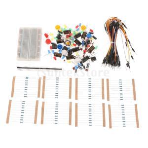 説明: 1セットポータブルキット抵抗器LEDコンデンサジャンパーケーブル実用的なブレッドボードスター...