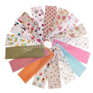 説明:プリントされたコットン生地ミックスフラワーフルーツパターン、手作りDIY布の縫製材料で縫製布ロ...