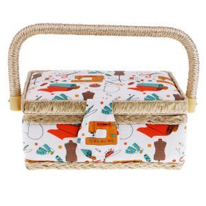 Fenteer 針と糸収納ケース 裁縫箱 ボックス ヨーロッパ 家庭用 手芸用 裁縫用 DIY 全2色 - オレンジ