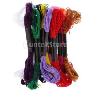 説明: 12刺繍糸コットンクロスステッチ刺繍フロススケルトン柔らかく滑らかで、破損しにくく、耐久性が...