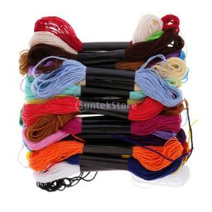 説明: 刺繍フロス刺繍スレッドラインクロスステッチフロスハンドミシン糸DIY Art Crafts ...