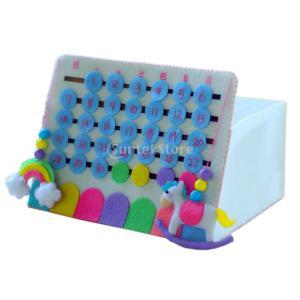 説明:  3Dカレンダー手作りフェルトキットニードルフェルトクラフトキットDIY縫製パッケージハンド...