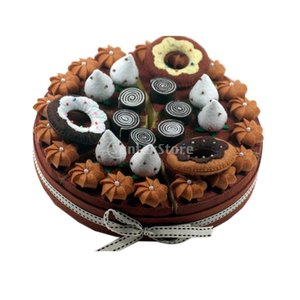 縫製工芸キット フェルトキット ケーキシリーズ DIY 芸術品 工芸品 初心者 かわいい 全8色 - ラウンドケーキブラウン2|stk-shop