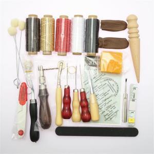 レザークラフトツールセット 初心者 修理 縫製 工芸品 彫刻 31点|stk-shop