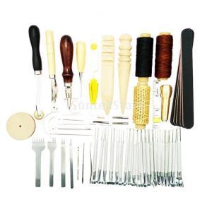 レザークラフトツールキット DIY 手芸用品 必要なDIY小物 59個|stk-shop