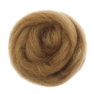 Homyl 10g ウール トップ ロービング フェルト 羊毛 スピニング フェルト繊維 66S 全10色 - コーヒー stk-shop