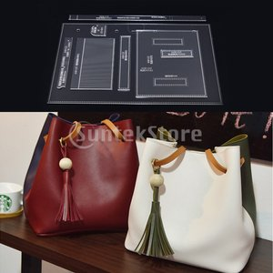 手提げ ハンドバッグ テンプレート 型紙 アクリル レザークラフト アクセサリー DIY 道具 全2種 - 2|stk-shop