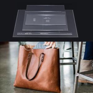 トートバッグ テンプレート 型紙 アクリル レザークラフト アクセサリー 道具 全3種 - 2#1セット(4個)|stk-shop