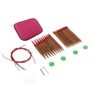 IPOTCH 13サイズ 輪針セット 丸編針 炭化竹 交換可能 セーター ニットツール|stk-shop