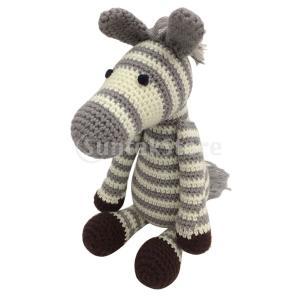初心者Diy編み物動物のぬいぐるみのためのゼブラドールかぎ針編みキット|stk-shop