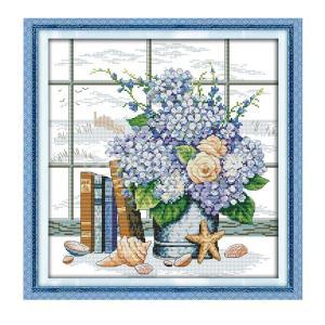 刻印&カウントクロスステッチキット刺繍工芸品14CT布 - 窓辺 stk-shop