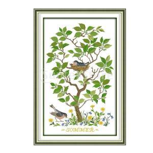 刻印刺繍クロスステッチキット初心者用手芸品 - 木鳥11CT stk-shop