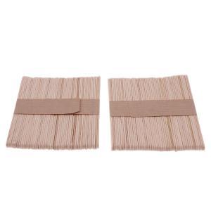 約200個 木材スティック 脱毛 ワックス用 ウッド ブラジ 木ベラ 体毛除去 アプリケータ 2サイズ選べる - S|stk-shop