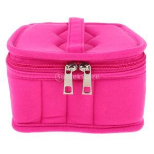 オイル収納ボックス エッセンシャルオイル収納ケース アロマケース オイル 香水 ボックス 全5色選べる - ローズレッド|stk-shop