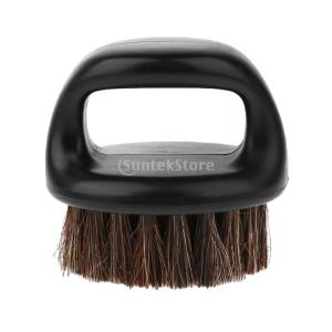 Baoblaze ひげ剃り用ブラシ ヘアブラシ ハンドル付き 丸いブラシ ポータブル 男性 |stk-shop