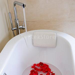 説明:バスルームの快適なヘッドレスト、頭、肩、首のサポートを提供します。  8個の吸引カップは、枕を...