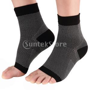 説明: 多用途汎用ソックスは、足底筋膜炎、アキレス腱炎、足首捻挫、ねじれ、かかとの拍車、腫れ、骨折、...