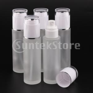 5本ガラススプレーボトル詰め替え式化粧品容器漏れ防止80ミリリットルホワイト