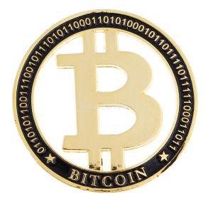 金メッキ ビットコイン Bitcoin 収蔵コイン クラフト