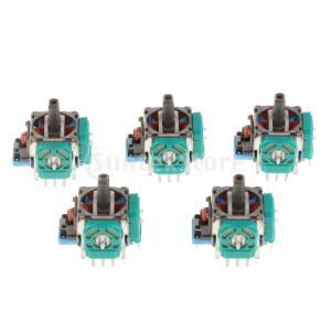 3Dロッカー ジョイスティック 軸 交換補修部品 コントローラー用品 ソニーPS4対応 ブルー 5ピ...