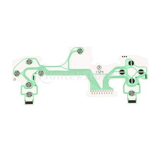 説明: 導電性フィルムキーパッドフレックスリボンケーブル回路基板交換部品。 ソニーPS4 5.0コン...