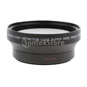 広角 魚眼レンズ 0.43倍 Canon 550D 600D 650D 1100D 5DII 7DI...