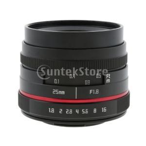 説明: パナソニックオリンパスマイクロ4/3マウントカメラの25mm F1.8プライム固定レンズ F...