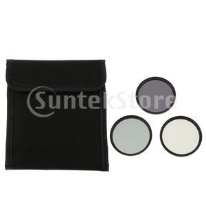 説明:  3ピースニュートラル密度ガラスフィルターキット(58mm ND2 / ND4 / ND8)...