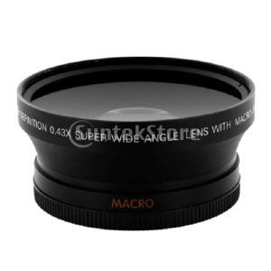 0.43倍 67mm 超広角&マクロレンズ コンバージョンレンズ Canon Olympus Nik...