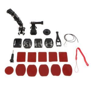 説明: 23 In 1 Helmet Mount Set GoPro用アクセサリキットバイク、オート...