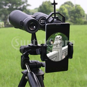 望遠鏡アダプター 携帯電話用 360度調節 単眼/双眼鏡ブラケット ユニバーサル