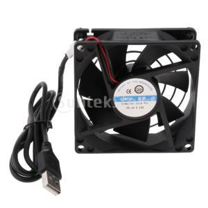 FLAMEER USBファン PC Xbox PS4用 5V 8cm ヒートシンク 冷却クーラー 静音